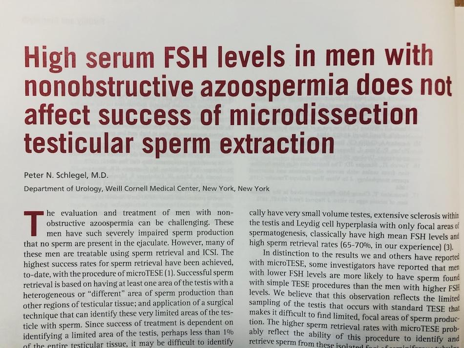 Azospermik erkekte FSH yüksekliğinin klinik uygulamada anlamı nedir ?