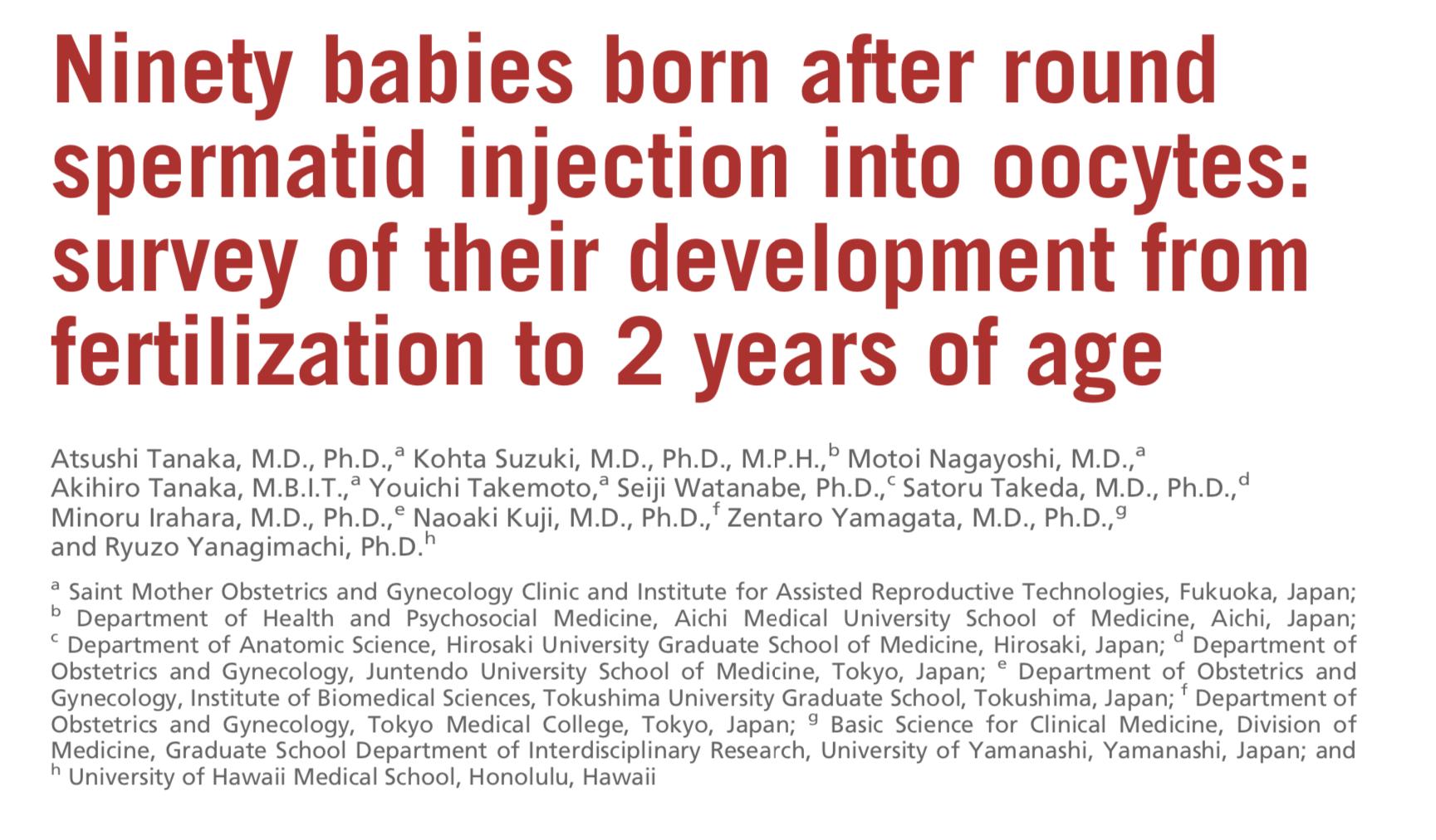 Yuvarlak spermatid hücreleri kullanımı ile (ROSI) Tüp Bebek Başarısı