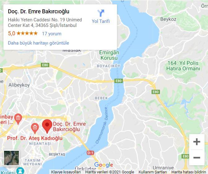 Emre Bakırcıoğlu Harita Görseli