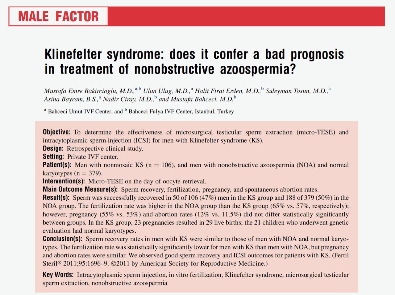 Klinefelter Sendromu Nedir, Nasıl Çocuk Sahibi Olabilirler?