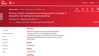 Akraba Evliliği ve Üretim Bozukluğuna Bağlı Azospermi